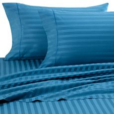 Or maybe do the sheets in teal?: Egyptian Cotton, Sheet Sets, 500 Damasks, Master Bedrooms, Luxury Sheet, Beds Bath, Woven Stripes, Damasks Sheet, Bedrooms Ideas