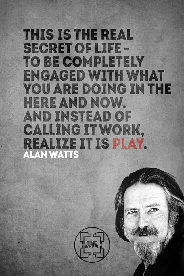 Alan Watts.... Nowadays it's termed 'Pinning'