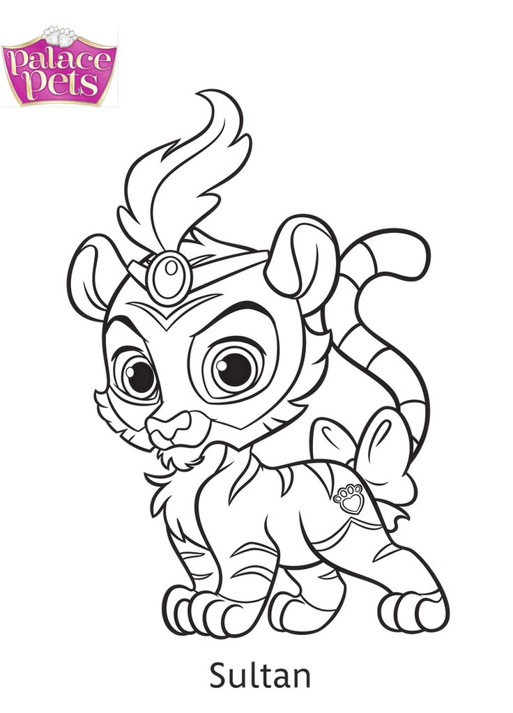 Sultan From Palace Pets Coloring Page