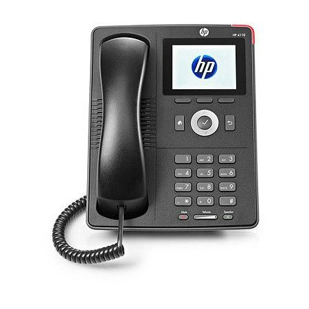 The #HP 4110 IP #Phone provides Power over Ethernet (PoE) connectivity as well as an optional power adapter.
