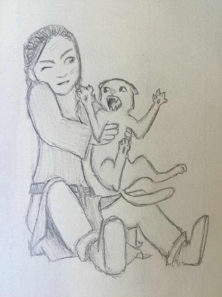 By GoldFinch :3  Arya chasing cats ;)  Game of Thrones Pencil drawing