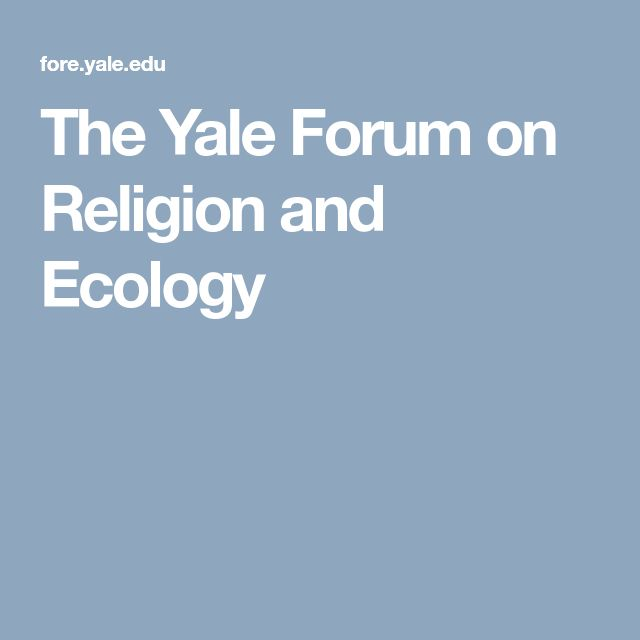 The Yale Forum on Religion and Ecology