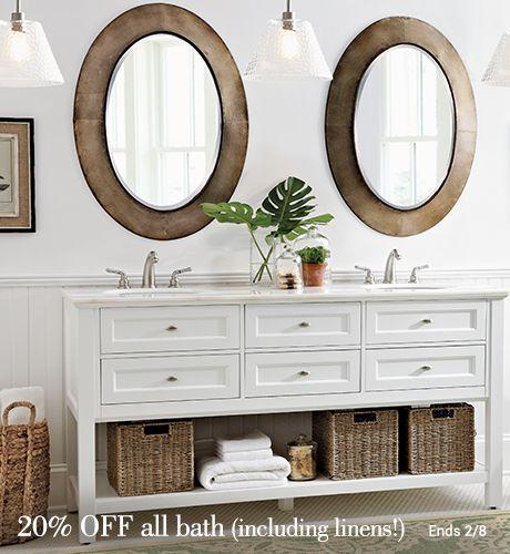 Double Vanities | HomeDecorators.com | Decor, Bathroom etagere