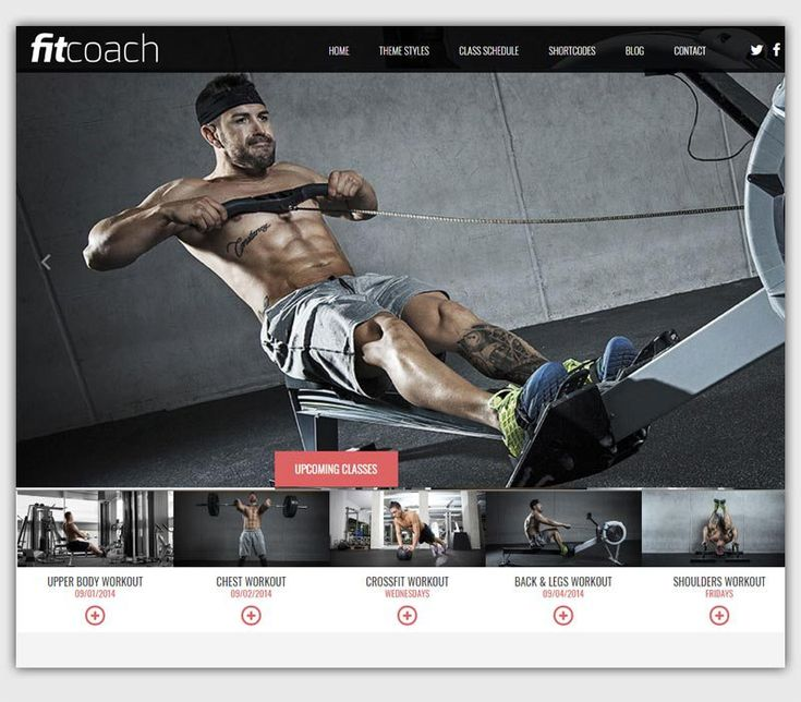 fitcoach theme gratuit WordPress responsive