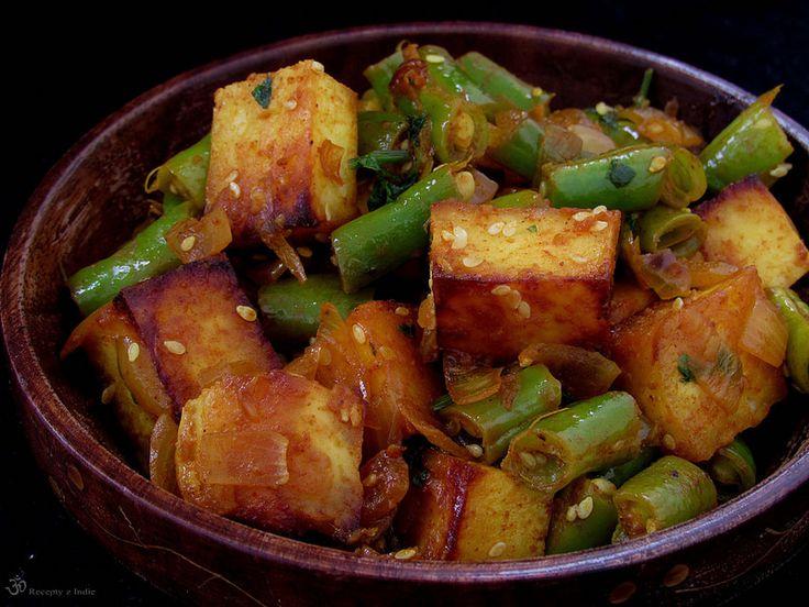 Recepty z Indie: Zelene fazulky s paneerom
