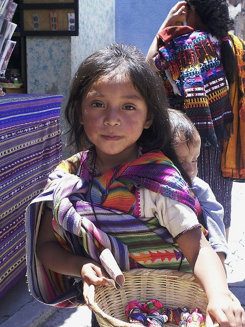 Maya girl selling worry dolls - wags, flickr