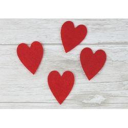 Serduszka 2,5cm x 3,5cm  Felt hearts