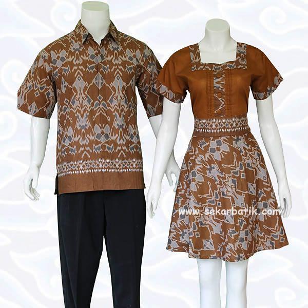 dress batik sarimbit couple tenun coklat 71