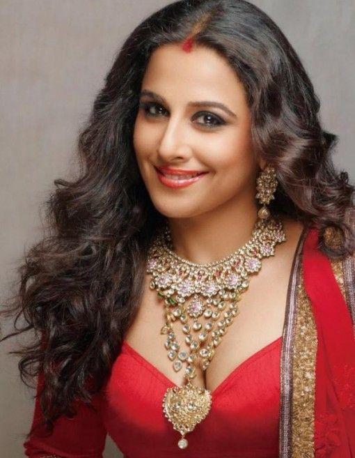 Vidya Balan as an Indian Bride for Hi! Blitz Magazine with red lips