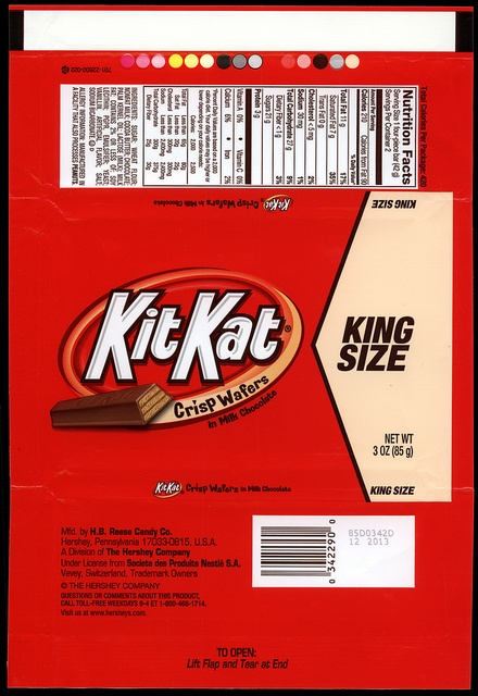 Hershey - Kit Kat - King Size - candy package wrapper ...