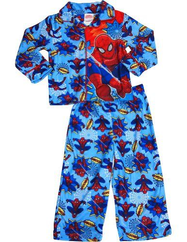 Spiderman - Little Boys Long Sleeve Spiderman Pajamas Blue 33563-3T @ niftywarehouse.com #NiftyWarehouse #Spiderman #Marvel #ComicBooks #TheAvengers #Avengers #Comics