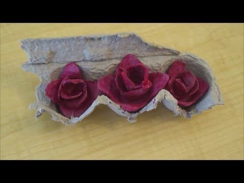 This tutorial shows how to make roses out of egg carton. Best recycling craft. Fun for kids.          egg carton flowers, egg carton rose craft, recicled egg carton, eeg carton rose, how to make roses from egg cartons, simple recyle crafts, recycling egg carton, recycle egg carton, making flowers with egg cartons, how to recycle an egg carton into cr...