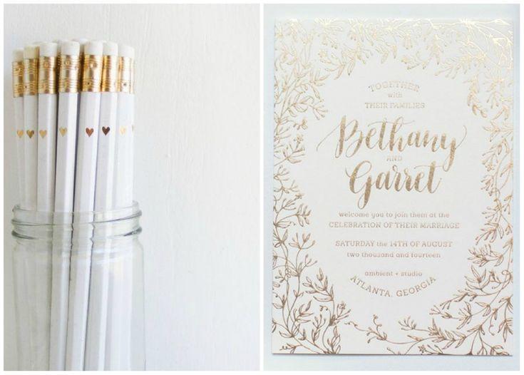idee matrimonio - dettagli bianco e oro