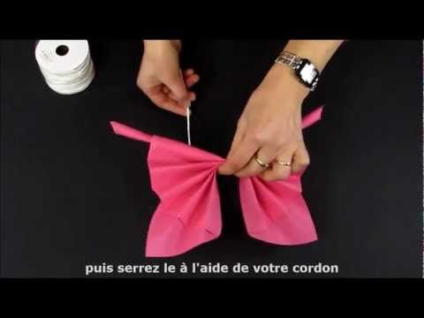▶ Pliage de serviette en forme de papillon - YouTube