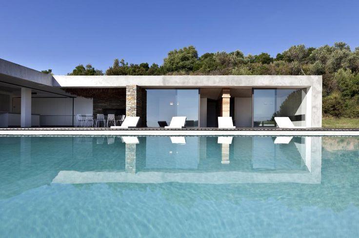 Minimalistická, letná rezidencia z Grécka