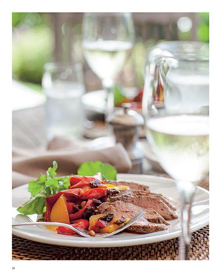 Herbed Lamb Backstraps with Agrodolce Capsicum - Belinda Jeffrey #recipe #food