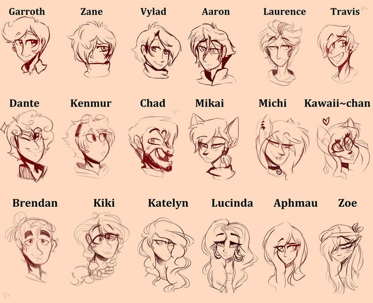 Aphmau Headshot Characters (by egardanier on DeviantArt) I love this so much and this is really gunna help me with my drawings. the one thing i think should change about this is Laurence Aaron's faces should switch or Laurence should have a diiferent face but other than that I LOVE THIS!