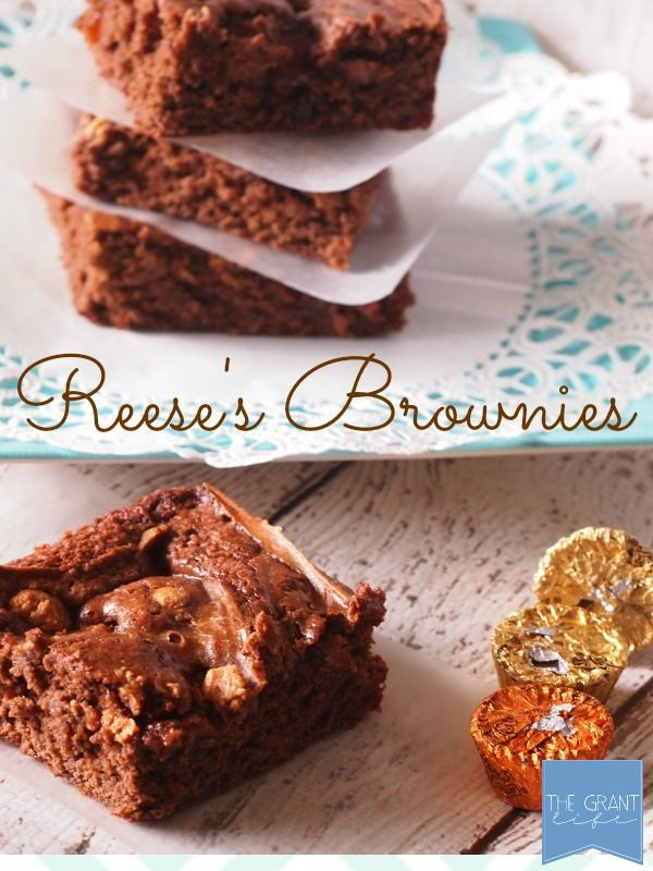 Reese's brownies. Peanut butter and chocolate lovers rejoice!  This is the brownie for you. #brownies