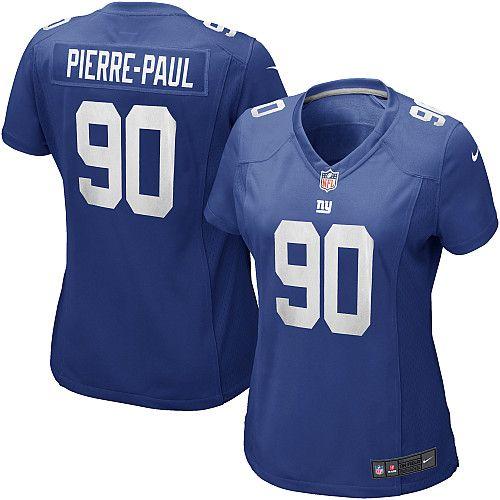 NFL Womens Elite Nike New York Giants #90 Jason Pierre-Paul Team Color Blue