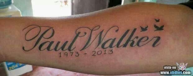 12 best images about miss you paul walker on pinterest for Fast and furious tattoo