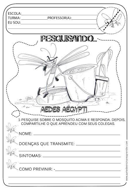 Atividade pronta - Temática Dengue                                                                                                                                                     Mais