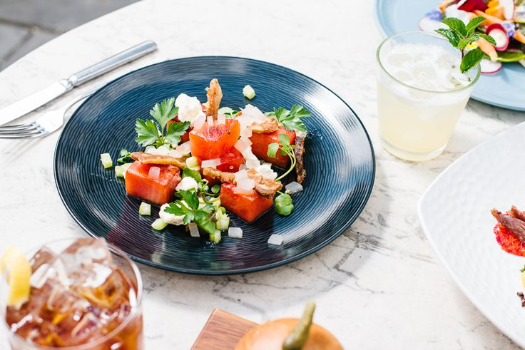 Dining at #restauranteightyeight #peppersconvent #huntervalley #organic #dining #farming #paleo #farmtofork #watermelon #salad