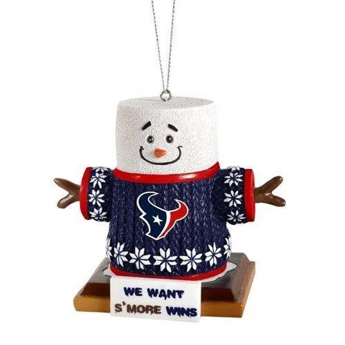 Houston Texans 2015 NFL Football Team Logo Smores Holiday Tree Ornament
