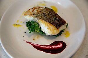 Hake, Seasonal Greens, Beetroot, Lemon and Thyme Dressing - Irish recipes : Dingle Cookery School - Irish Food
