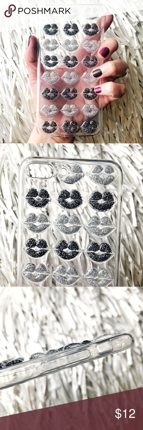 NEW iPhone 7 Plus/8 Plus SOFT Glitter Lips Case ▪️Fits iPhone 7 Plus or 8 Plus Models     ▪️High Quality Soft TPU - Thick & Shock-Resistant     ▪️Same or Next Business Day Shipping ! Accessories Phone Cases