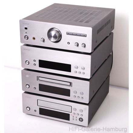 denon d f10 midi hifi stereo anlage system spitzenklasse amp cd radio tape in silber titan. Black Bedroom Furniture Sets. Home Design Ideas