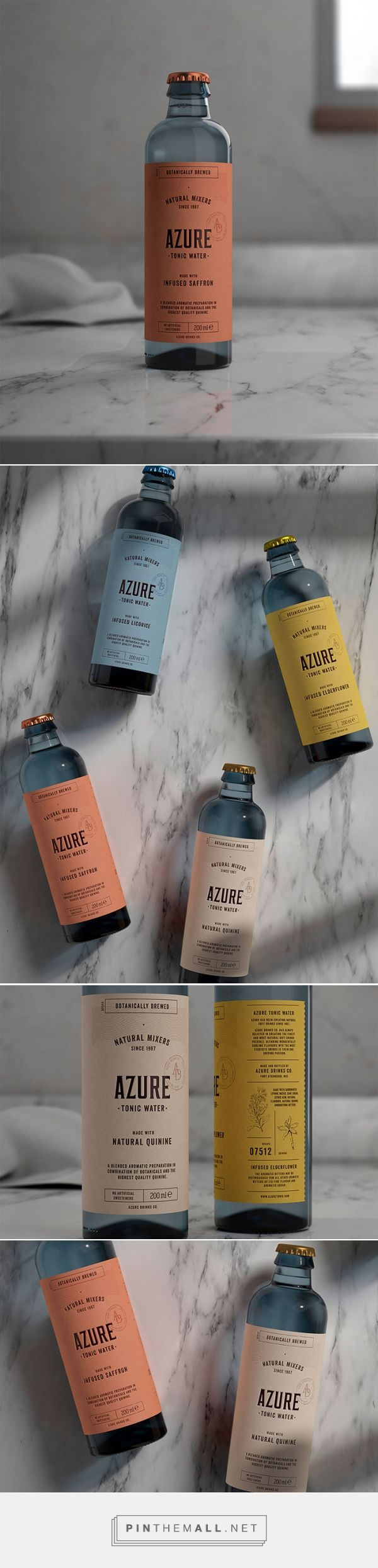 Packaging Design Azure Tonic Water by Pep Bernat Vizcaya. Source: Daily Package Design Inspiration. Pin curated by #SFields99 #packaging #design