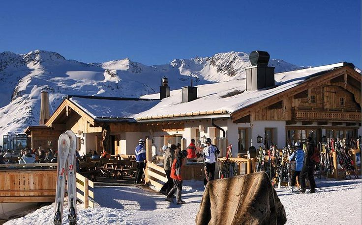 at the top of the Hohe Mut Bahn lift at 2,670m, Hohe Mut Alm in Obergurgl has great views too, and the food is far superior. This is the classic Austrian mountain restaurant – cow-barn design inside, big sun terrace outside.
