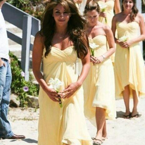 Yellow Beach Wedding Dresses