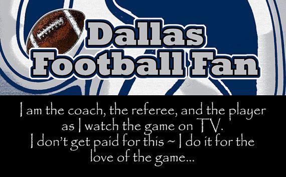 "Dallas Cowboys Football Fan 10""x16"" Wooden Sign"