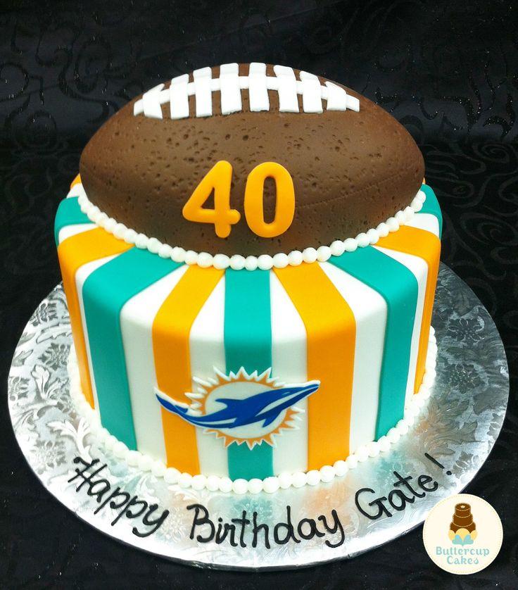 Miami Dolphins Birthday Cake