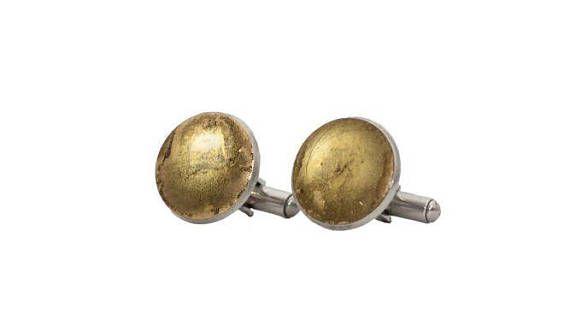 Coppia di Gemelli Oro in resina epossidica e acciaio inox made in Italy
