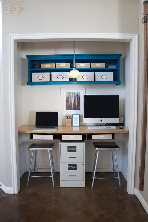 office in closet. A Closet Turned Office In
