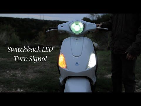 How To Install Switchback LED Turn Signal on Piaggio Fly scooter