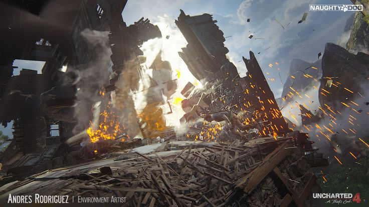 ArtStation - Uncharted 4 - Tower Fallen, Andres Rodriguez