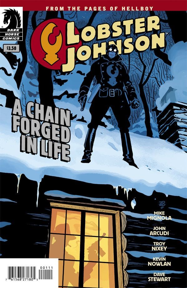 Lobster Johnson: A Chain Forged in Life, by Mike Mignola, John Arcudi, Troy Nixey, and Kevin Nowlan  Out from Dark Horse Comics, comes this one-shot in the Lobster Johnson universe.