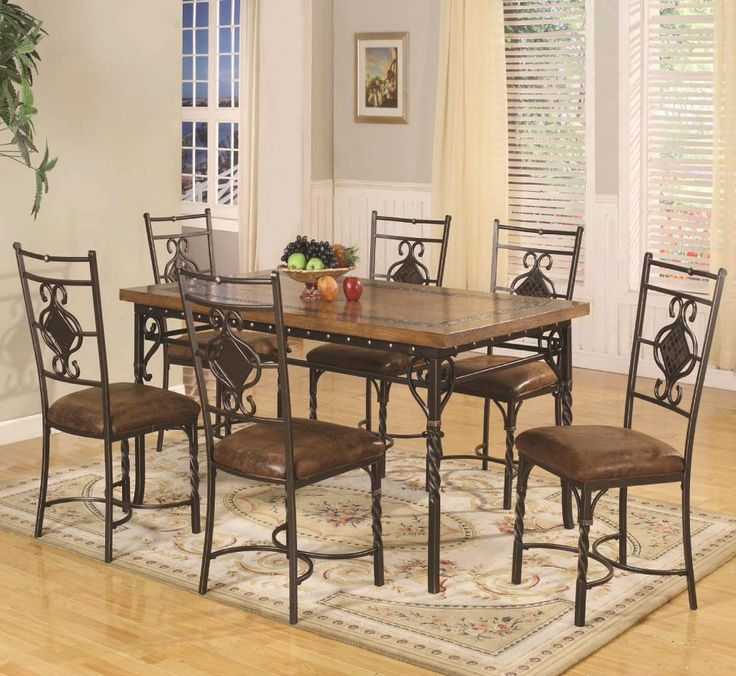 DC088 7 Piece Dining Table Set By Lifestyle Available At RoyalFurniture.com