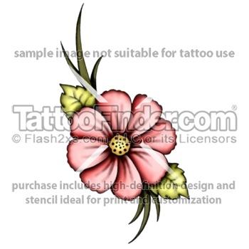 Coral Flora tattoo design