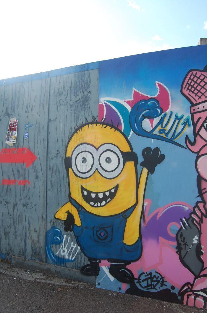 Gloucester Paint Jam 2-3 August 2014 #streetart #Graffiti Festival Despicable Me