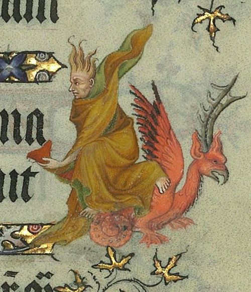 Bibliothèque nationale de France, Département des Manuscrits, Latin 919 detail of f.9r. Horae ad usum Parisiensem [Grandes Heures de Jean de Berry]. 1400-1410