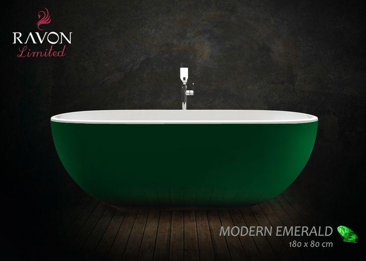 Wanna wolnostojąca Ravon Modern w kolorze z serii limitowanej.