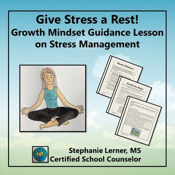 This guidance lesson uses Growth Mindset, stress management techniques, AND lessons from Michael Jordan to help your students de-stress!