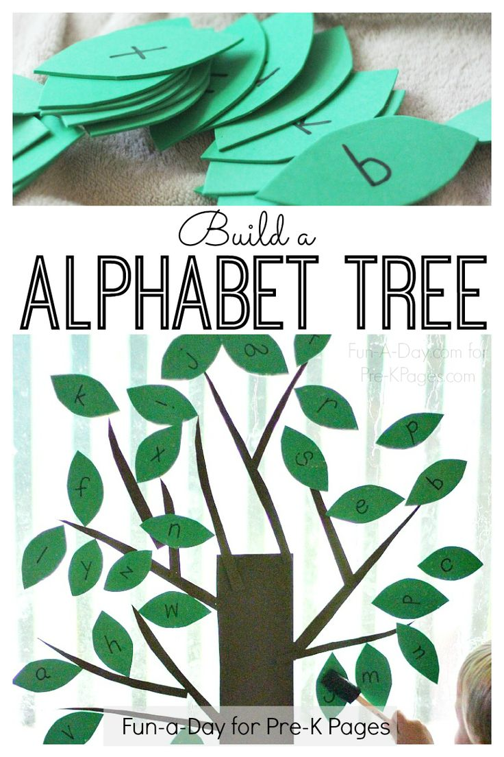 Build an Alphabet Tree! A fun letter learning experience inspired by the book The Alphabet Tree. Your kids will have fun learning letters of the alphabet with this hands-on DIY window cling activity!