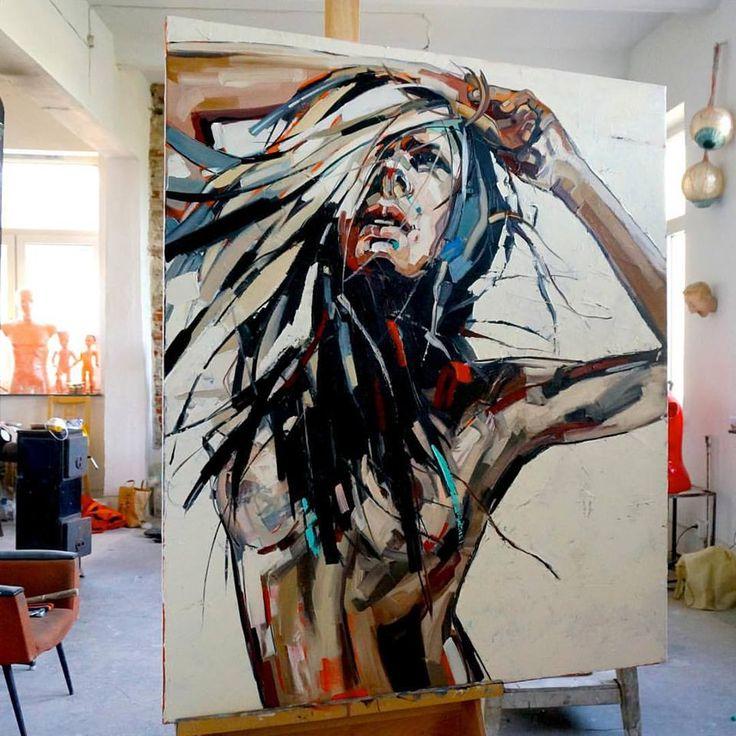 "Painting : Anna Bocek ""Summer Wind"""