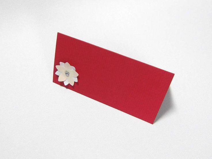 Tischkarte rot 10 Stück Platzkarte Geburtstag Namensschild ...