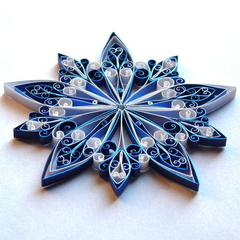 104 best images about quilling snowflake on pinterest for Decoration quilling